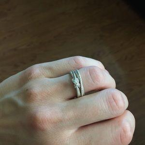 David Yurman | Diamond Crossover Ring